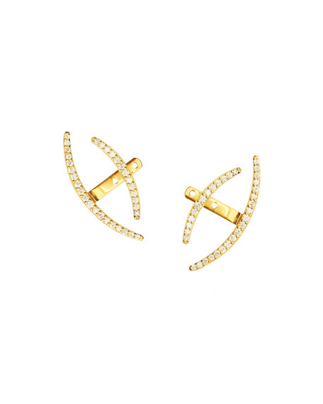 14k Fusion Diamond Jacket Earrings