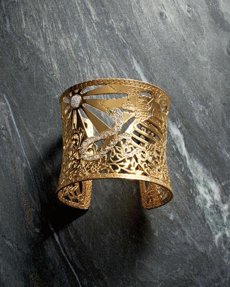 John Hardy Cobra Heritage Cuff Bracelet In 18k Gold With