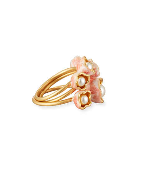 Pearly Bud Stacking Rings