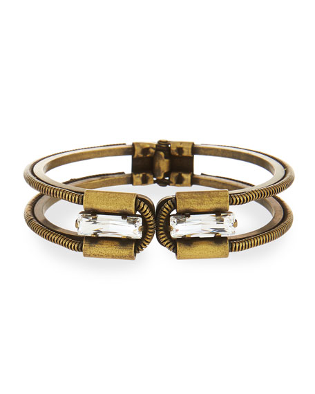 Nest Gold Plated Bamboo Lattice Cuff mzGDHYST