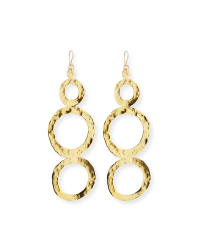 Hammered Multi-Circle Drop Earrings