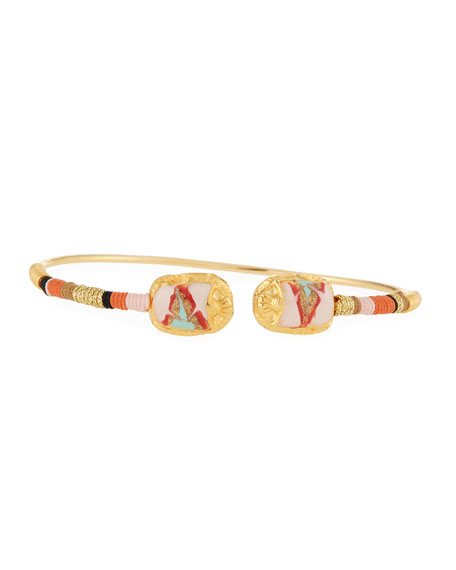 Gas Bijoux Duality Scaramouche Bracelet, Pink/Gold