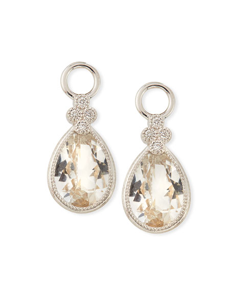 18k Provence Pear Earring Charms