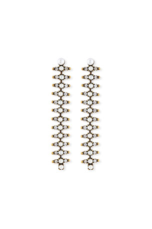 Auden Holloway Linear Pearly Crystal Earrings