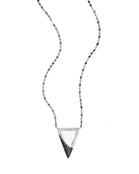 LANA Reckless Crystal Charm Necklace with Black Diamonds