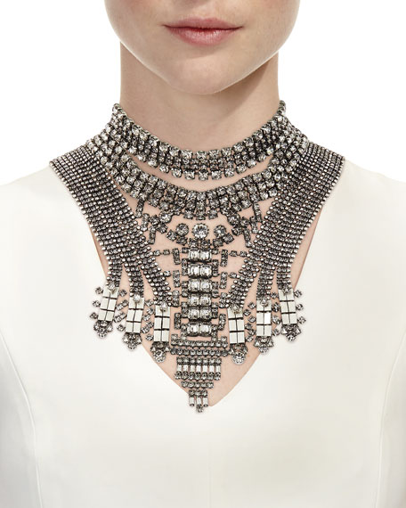 Falkor V Crystal Statement Choker Necklace