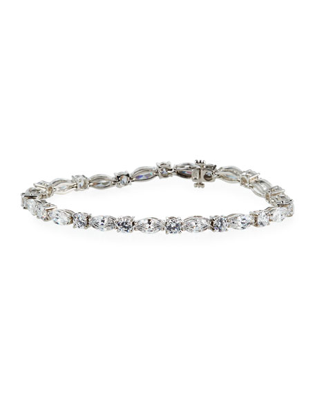 Fantasia by DeSerio Mixed-Cut Cubic Zirconia Tennis Bracelet