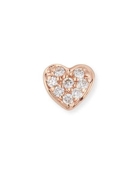 Sydney Evan 14k Diamond Heart Single Stud Earring EhUL8eP