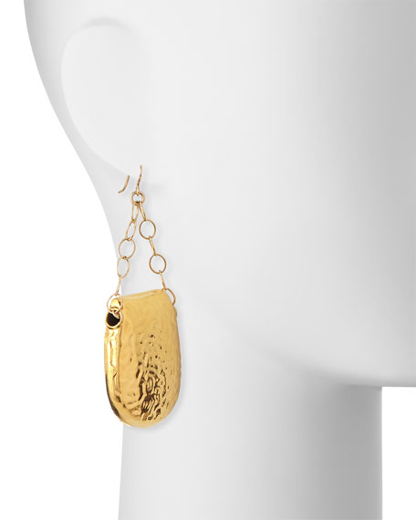 Hammered Chain Drop Earrings