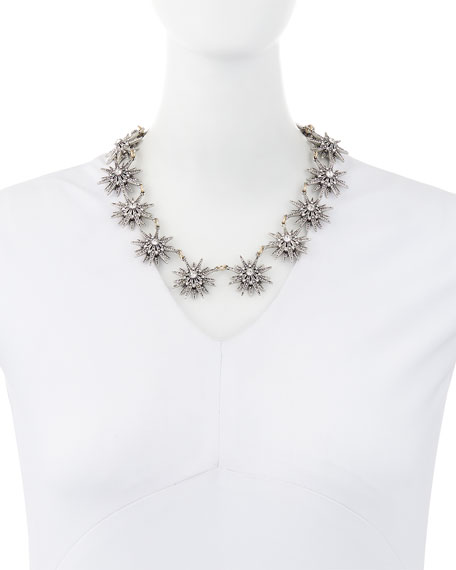 Encore Crystal Star Station Necklace