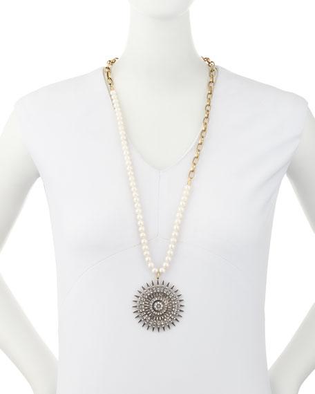 Beacon Starburst Pendant Necklace w/ Pearls