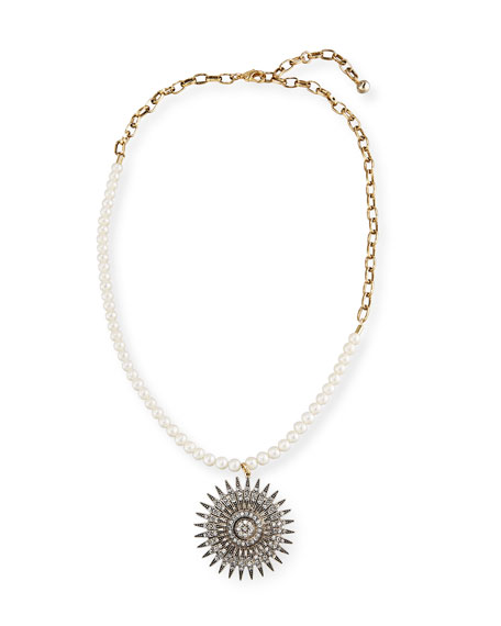 Lulu Frost Beacon Starburst Pendant Necklace w/ Pearls