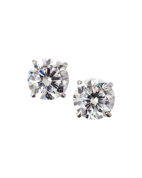 Quick Look. Fantasia by DeSerio · 14k White Gold Cubic Zirconia Stud  Earrings ... f3024d289b
