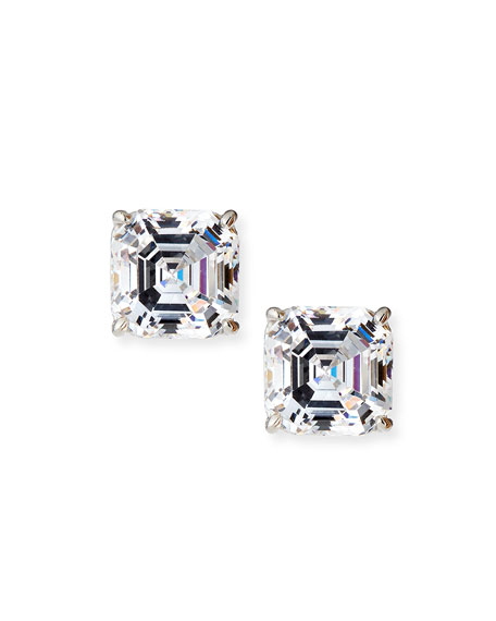 Fantasia by DeSerio Square-Cut Cubic Zirconia Stud Earrings