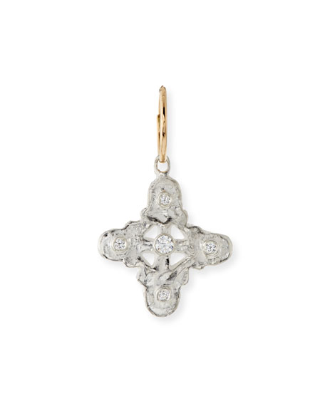 Signature Cross Single Earring with Crystal