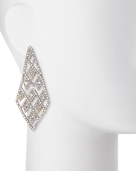 Crystal Lattice Drop Earrings