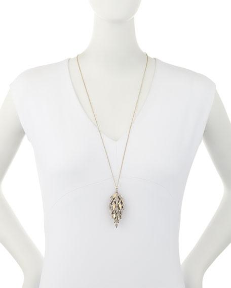 Spiked Lattice Pine Cone Pendant Necklace