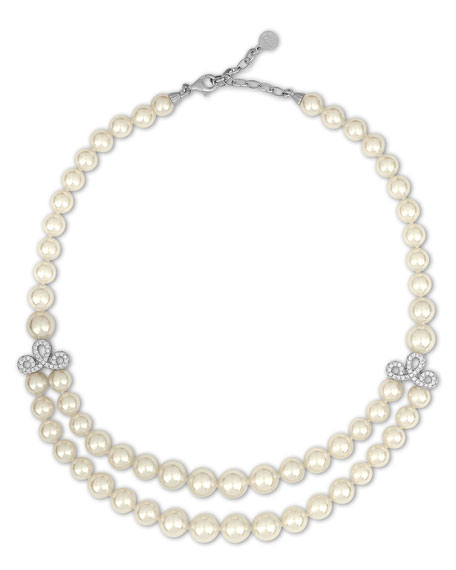 Majorica Pearl Two-Strand Bib Necklace