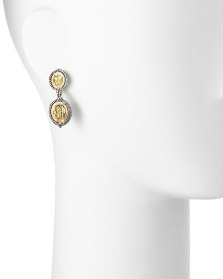 Demeter Coin Drop Earrings