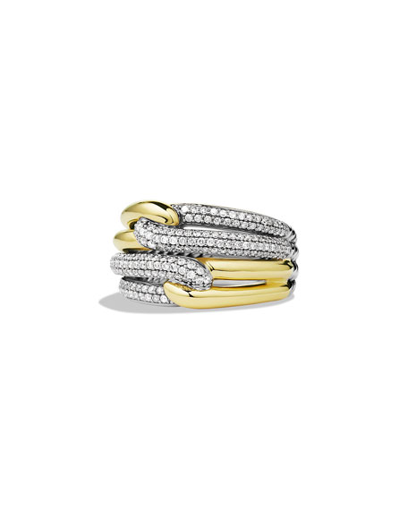 David Yurman Labyrinth Double-Loop Ring with Diamonds and