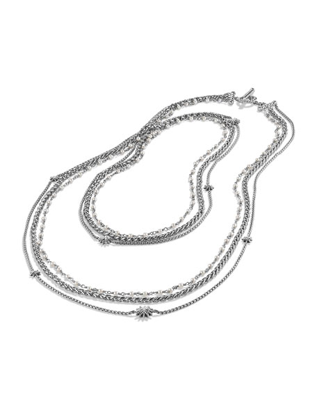 Starburst Pearl Chain Necklace