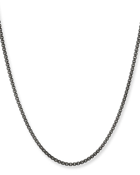"""Box Chain Necklace, 2.7mm, 36"""""""