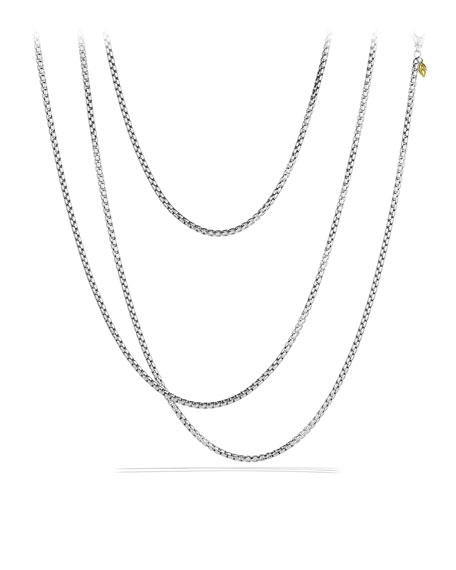 "Medium Box Chain with Gold, 72""L"