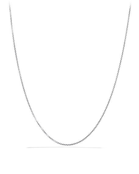 "Baby Box Chain with Gold, 20""L"