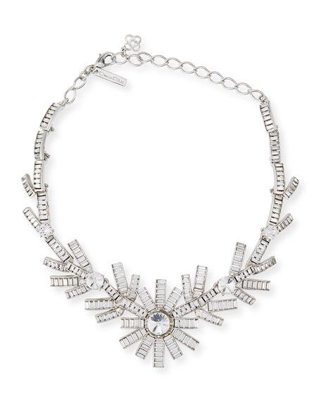 Modern Baguette Crystal Necklace