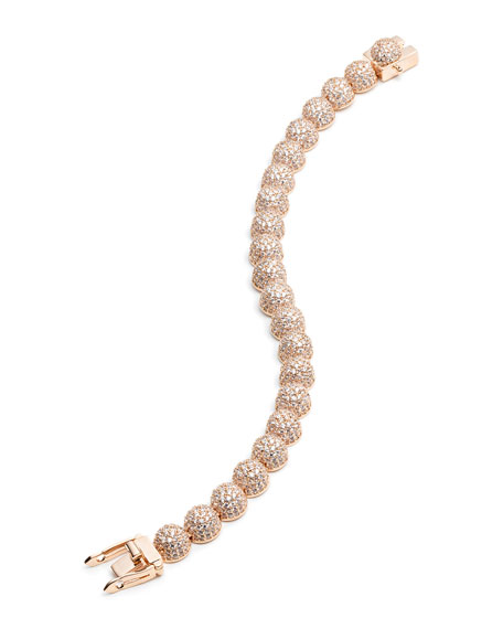 Eddie Borgo Medium Pave Crystal Dome Link Bracelet