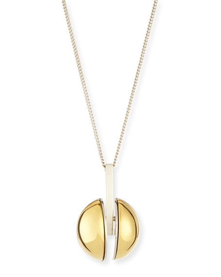 Chloe Ellie Two-Tone Golden Pendant Necklace, 33