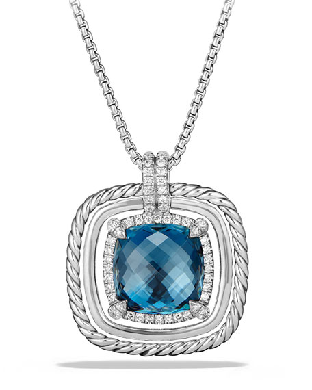 David Yurman 24mm Ch??telaine Rope Bezel Hampton Blue