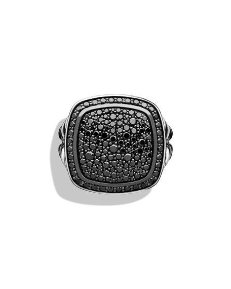 14mm Albion Pavé Black Diamond Ring