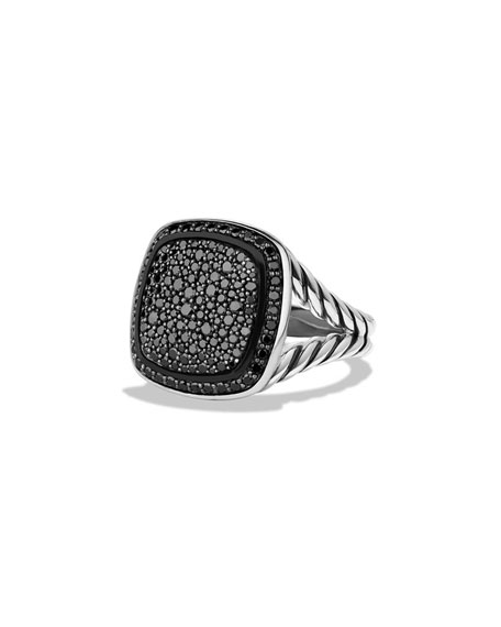 David Yurman 14mm Albion Pav?? Black Diamond Ring