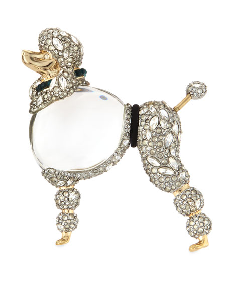 Alexis Bittar Lucite Jelly Belly Poodle Pin