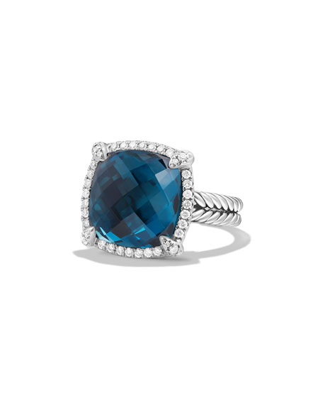 David Yurman 14mm Châtelaine Hampton Blue Topaz Ring