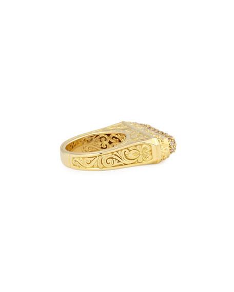 Flamenco 18K Brown Diamond Bar Ring, Size 7