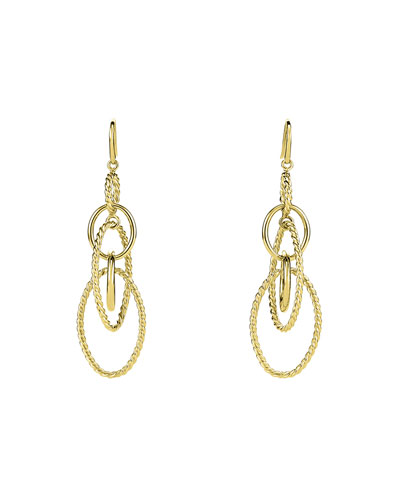 Mobile Large Link Dangle Earrings in 18K Gold