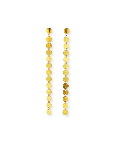 Lush 24k Gold Single Drop Earrings