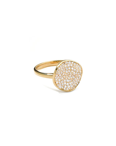 Stardust Diamond Disc Ring, 12mm