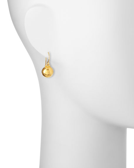 24K Hoopla Dome Earrings