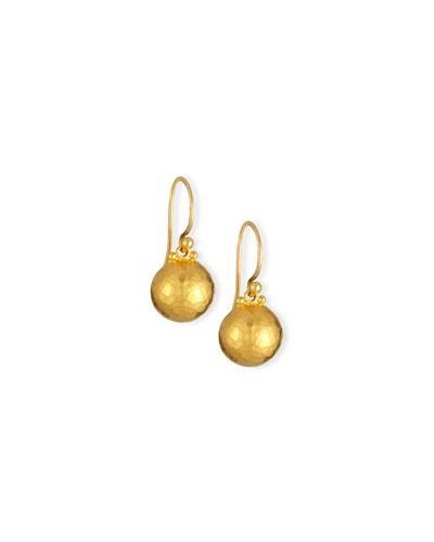 24K Hoopla Dome Earrings