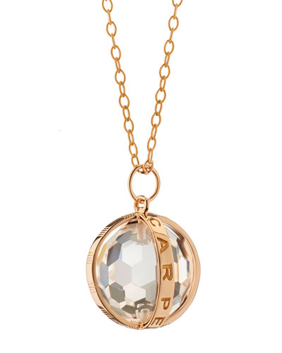 18K Rose Gold Carpe Diem XL Rock Crystal Necklace