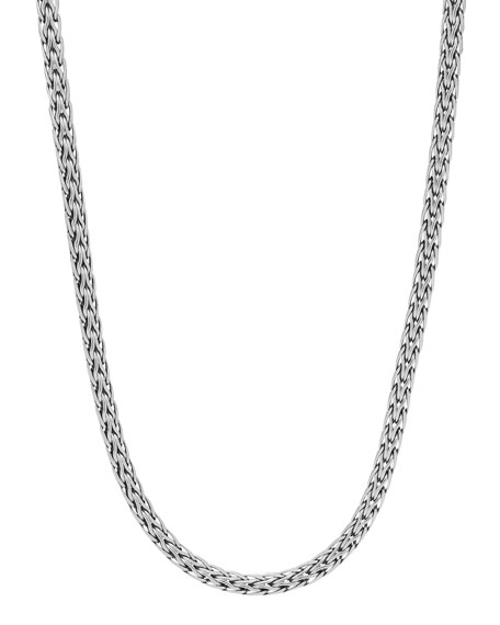 "Classic Chain Silver Slim Necklace, 16""L"
