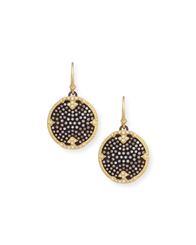 Old World Midnight Pavé Diamond Disc Earrings