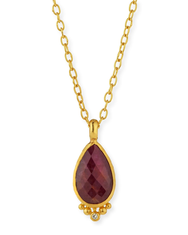 Gurhan Elements 24k Constantine Ruby Pendant Necklace