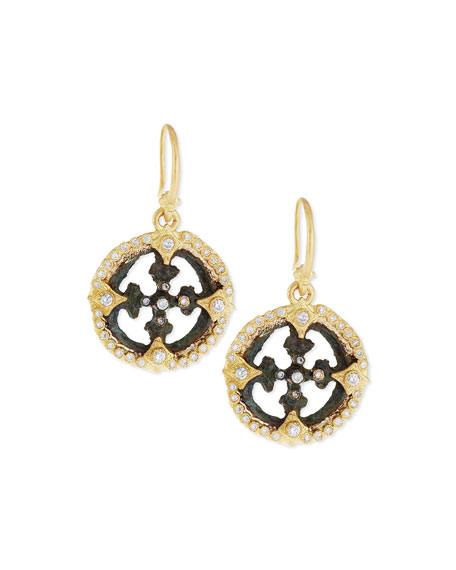 Armenta Sue??o Open Cross Diamond Artifact Earrings