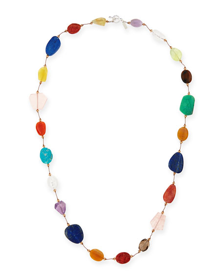 "Carnival Large Multi-Stone Necklace, 35""L"