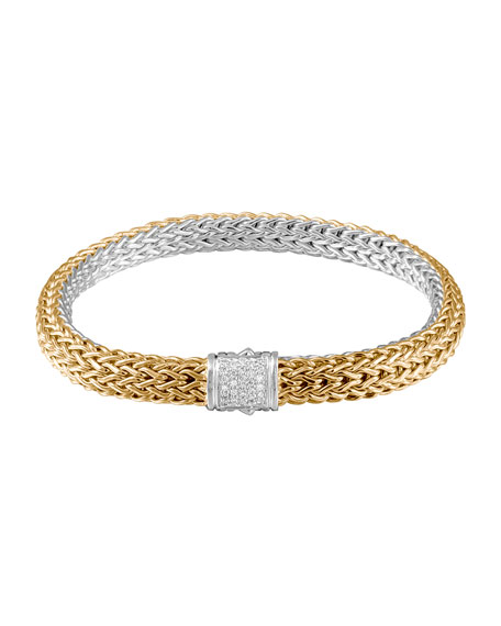 John Hardy Classic Chain Gold & Silver Medium