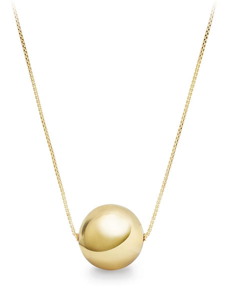 Solari 18k 32mm Pendant Necklace w/ Pearls, 42""